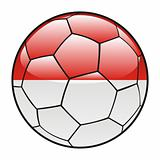 Monaco flag on soccer ball
