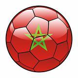 Morocco flag on soccer ball