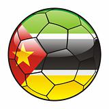 Mozambique flag on soccer ball