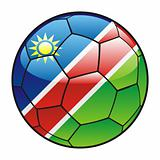 Namibia flag on soccer ball