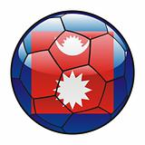 Nepal flag on soccer ball