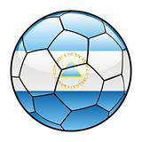 Nicaragua flag on soccer ball