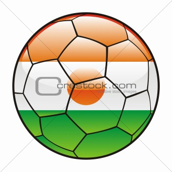 Niger flag on soccer ball