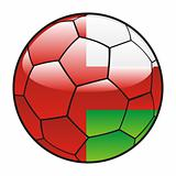 Oman flag on soccer ball
