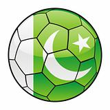Pakistan flag on soccer ball