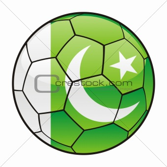Pakistan flag on soccer ball
