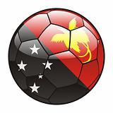 Papua New Guinea flag on soccer ball