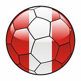 Peru flag on soccer ball