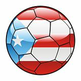 Porto Rico flag on soccer ball