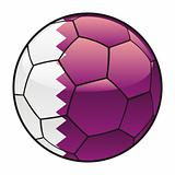 Qatar flag on soccer ball