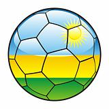 Rwanda flag on soccer ball