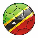 Saint Kitts and Nevis flag on soccer ball