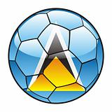 Saint Lucia flag on soccer ball