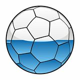 San Marino flag on soccer ball
