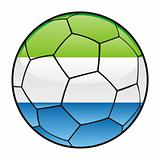 Sierra Leone flag on soccer ball