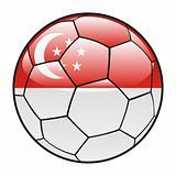 Singapore flag on soccer ball