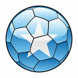 Somalia flag on soccer ball