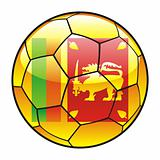 Sri Lanka flag on soccer ball