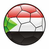 Sudan flag on soccer ball