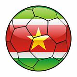 Suriname flag on soccer ball