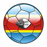 Swaziland flag on soccer ball