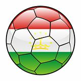 Tajikistan flag on soccer ball