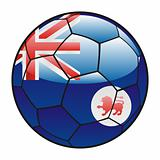 Tasmania flag on soccer ball