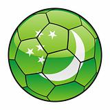 Turkmenistan flag on soccer ball