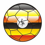 Uganda flag on soccer ball