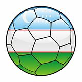 Uzbekistan flag on soccer ball