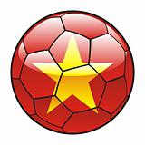 Vietnam flag on soccer ball