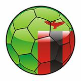 Zambia flag on soccer ball