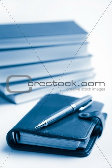 pocket planner and books