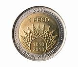 Argentina, 2010 bicentenary anniversary coin.