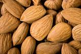 Almonds background.