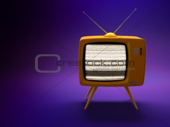 Old fashioned TV set