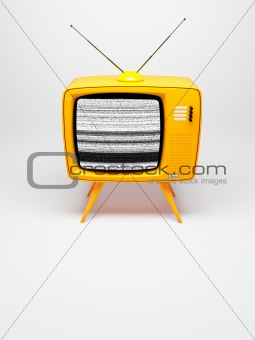 Old fashioned TV set