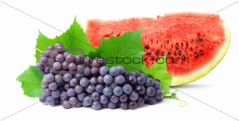 Watermelon and grape