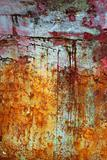 green and red grunge aged paint wall texture