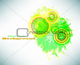 Grunge abstract banner. Vector
