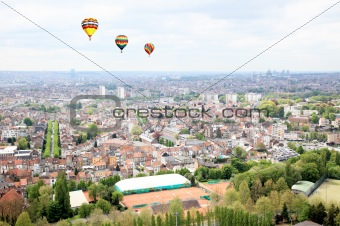 Aerial view cityscape of Brussel