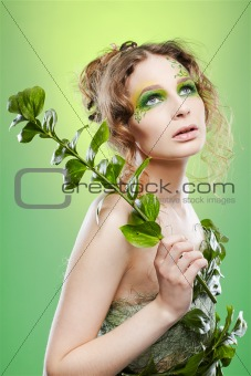 beautiful dryad girl