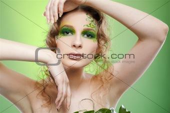 beautiful dryad girl