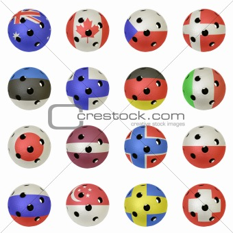 Floorball Balls with Flags