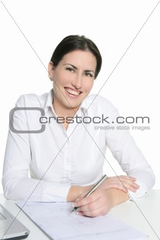 Agreement sign woman signing document
