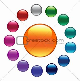 Palette. Color buttons.