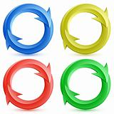 Color circular arrows