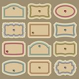 blank vintage labels set (vector)