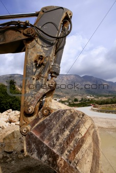 old excavator construction