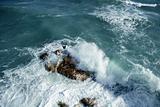 tranquil  beautiful stone beach